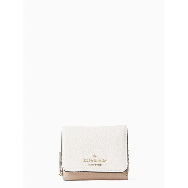 leila colorblock small trifold continental wallet