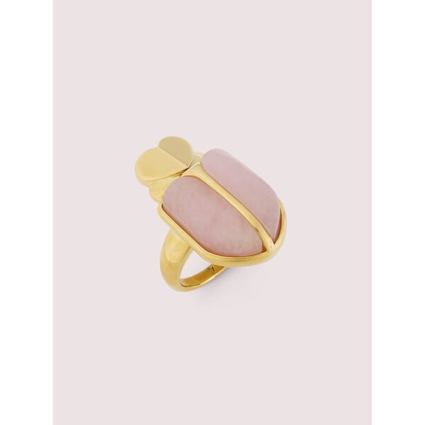 love bugs beetle statement ring, blush, hi-res