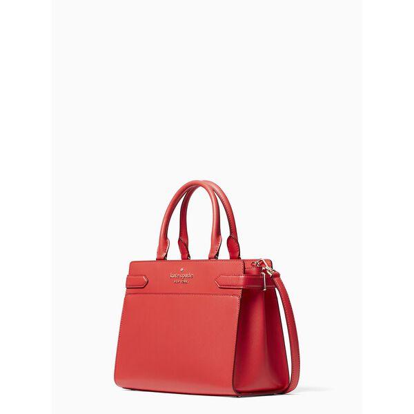 staci medium satchel, digital red, hi-res
