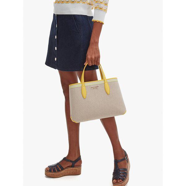 all day canvas medium satchel, yellow multi, hi-res