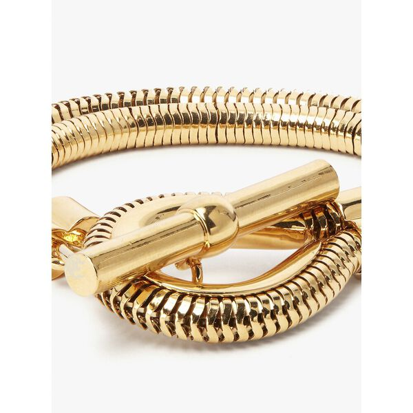 know the ropes cord bracelet, gold, hi-res