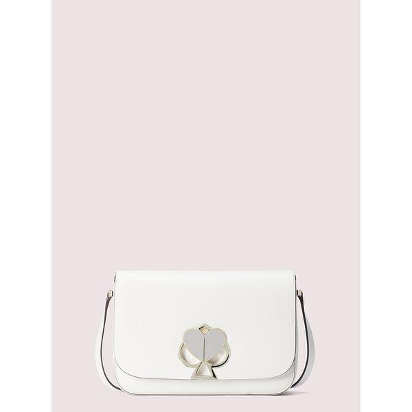 nicola twistlock medium shoulder bag, OPTIC WHITE, hi-res