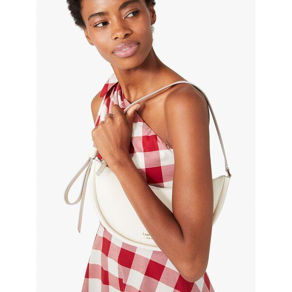 smile small shoulder bag, parchment, hi-res