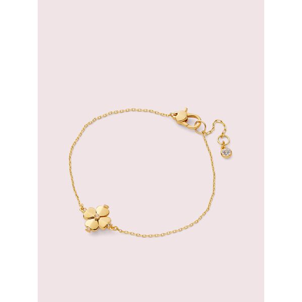 legacy logo spade flower solitaire bracelet