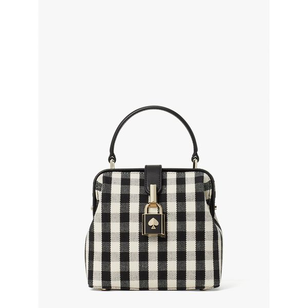 remedy gingham small top-handle bag