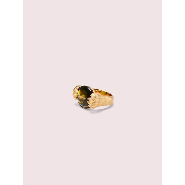 house cat double paw ring, peridot, hi-res