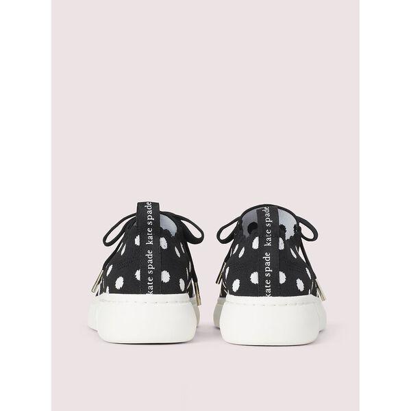 lift knit geo sneakers, black/whitedots, hi-res