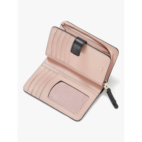 roulette compact wallet, black, hi-res