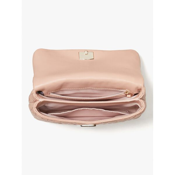 bloom small flap shoulder bag, flapperpnk, hi-res