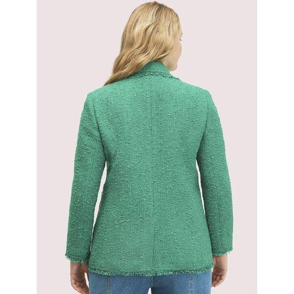 sequin tweed blazer, TROPICAL LEAF, hi-res