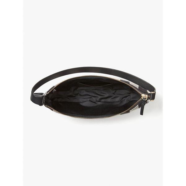 smile gingham small shoulder bag, black multi, hi-res