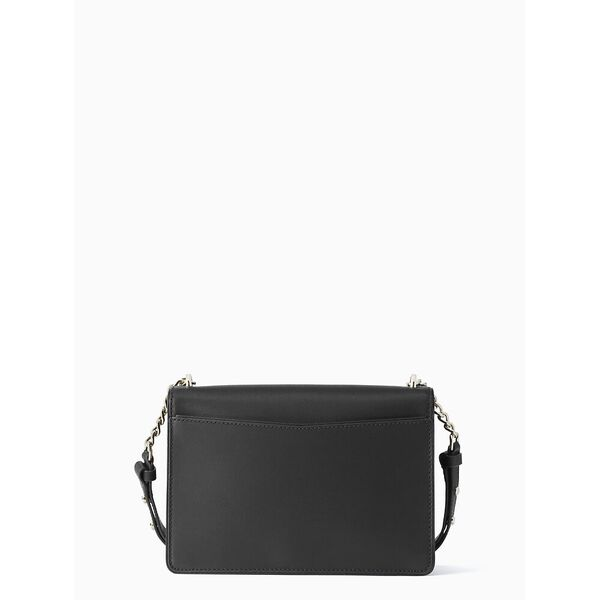neve medium convertible flap shoulder bag, black, hi-res