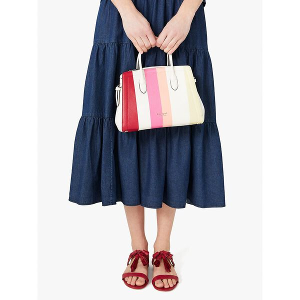 knott stripe medium satchel, multi, hi-res