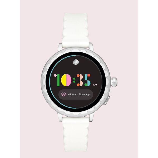 white silicone scallop smartwatch 2