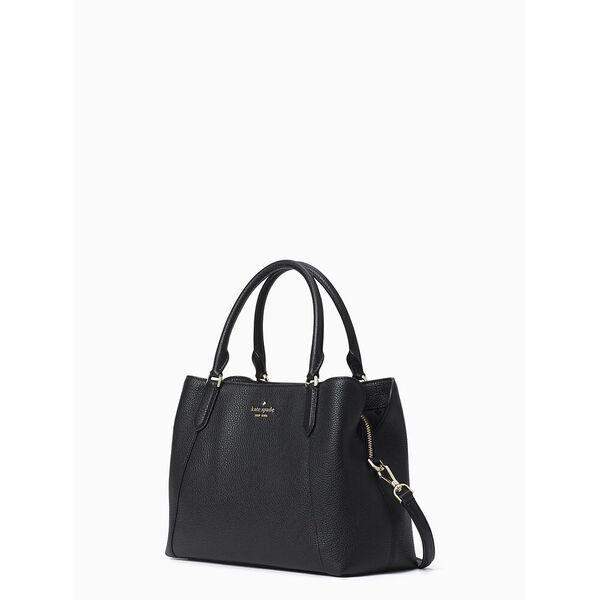 jackson medium satchel, black, hi-res