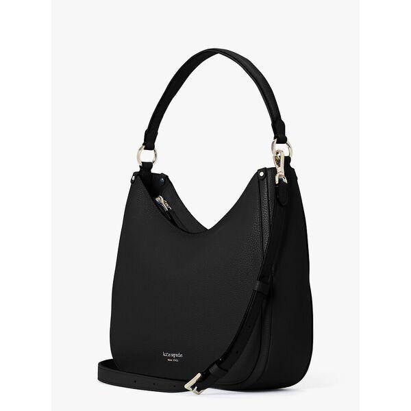 roulette large hobo bag, black, hi-res