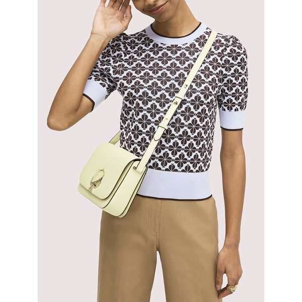nicola twistlock medium shoulder bag, lemon sorbet, hi-res