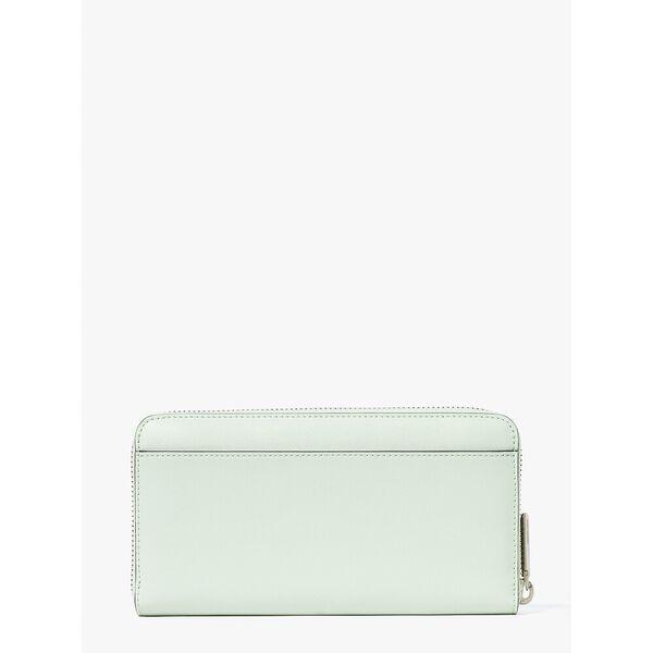 spencer zip-around continental wallet, crystal blue, hi-res