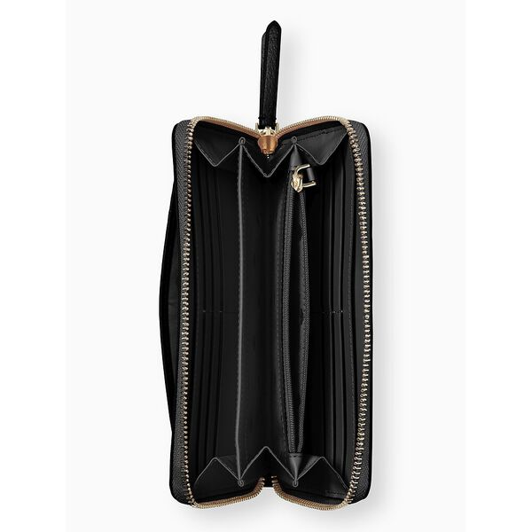 jeanne large continental wallet, black, hi-res
