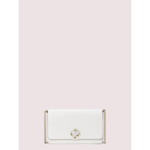 nicola twistlock chain wallet, optic white, hi-res