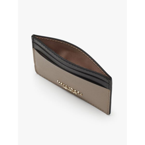 spencer cardholder, warm beige/black, hi-res