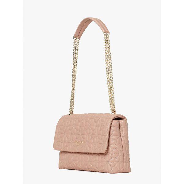 bloom large flap shoulder bag, flapperpnk, hi-res