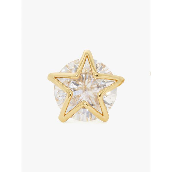 something sparkly star studs, CLEAR/GOLD, hi-res
