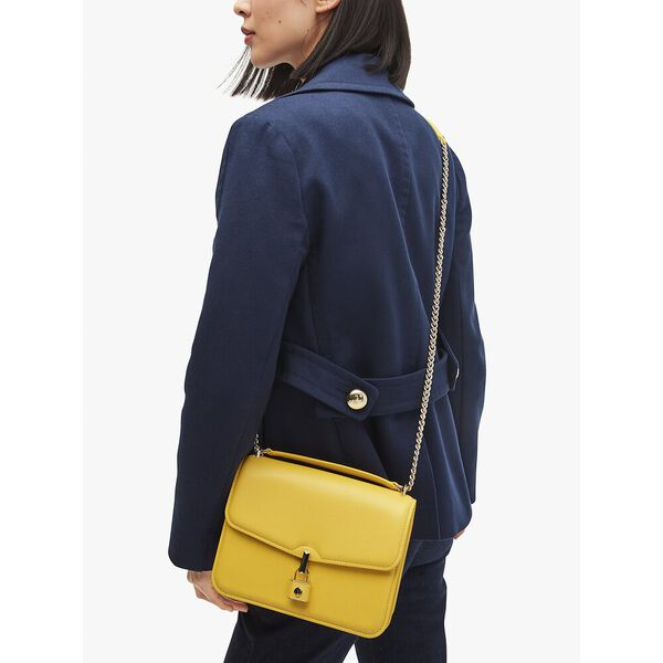 locket large flap shoulder bag, yellow sesame, hi-res