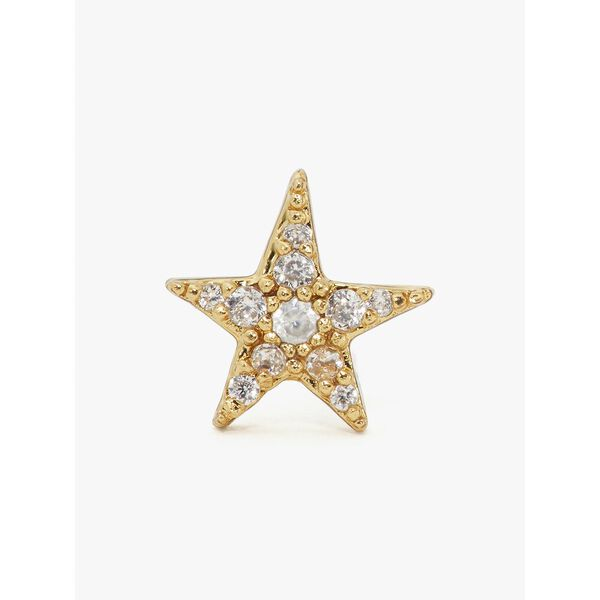 something sparkly pavé star & moon studs, CLEAR/GOLD, hi-res