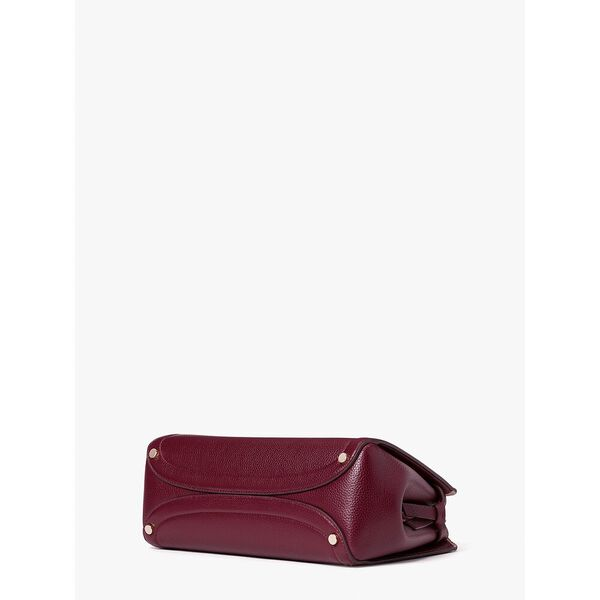 knott medium satchel, grenache, hi-res
