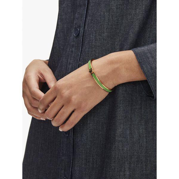 heritage spade thin enamel bangle, green, hi-res