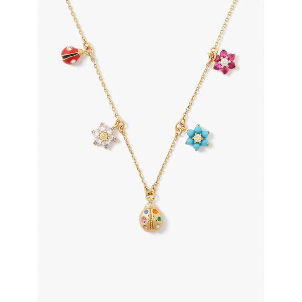 nature walk ladybug charm necklace, multi, hi-res