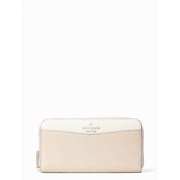 leila colorblock large continental wallet