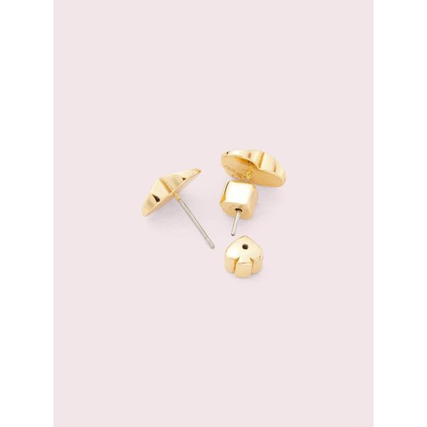 heritage spade small heart studs, rococo pink, hi-res