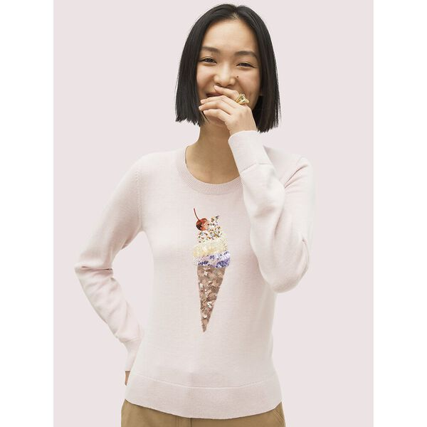 embellished ice cream sweater