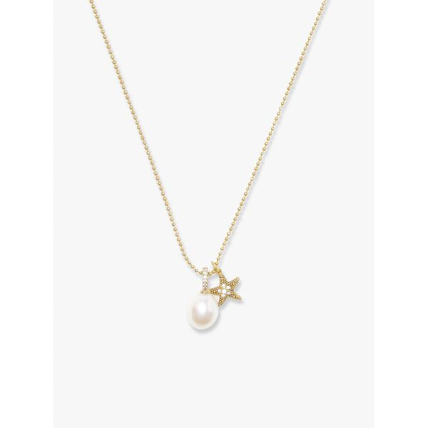sea star starfish pearl charm pendant