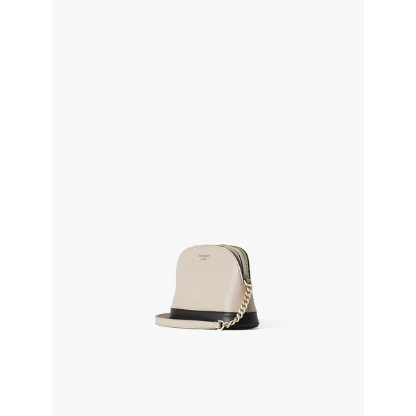 spencer small dome crossbody, warm beige/black, hi-res