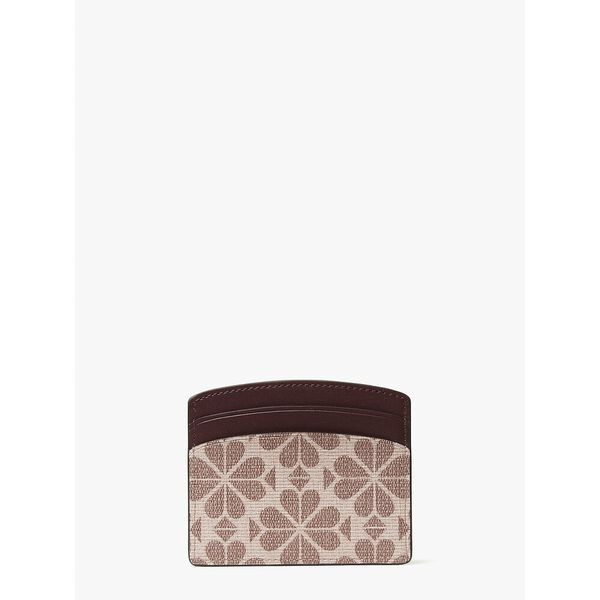 spade flower coated canvas cardholder, PINK MULTI, hi-res