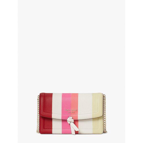 knott stripe flap crossbody