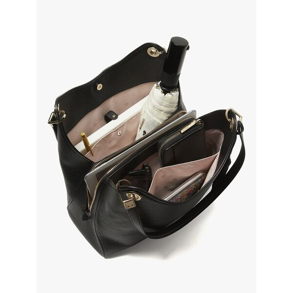 loop large shoulder bag, BLACK, hi-res