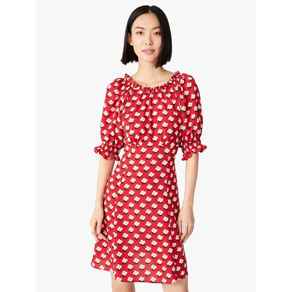 block flower fluid dress