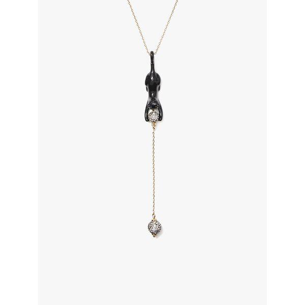 house cat y necklace, black, hi-res