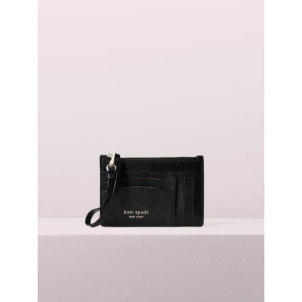 spencer cardholder wristlet, black, hi-res