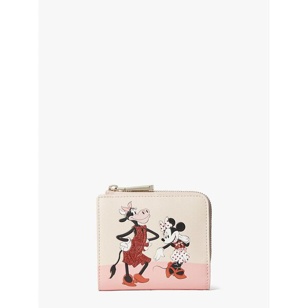 disney x kate spade new york clarabelle & friends small bifold wallet