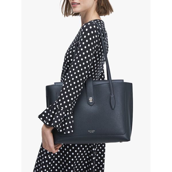 essential large work tote, black, hi-res