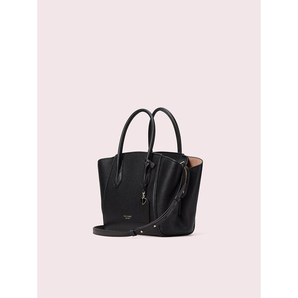 grace medium satchel, black, hi-res