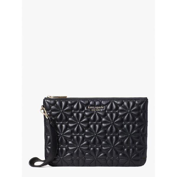 bloom pouch wristlet, black, hi-res