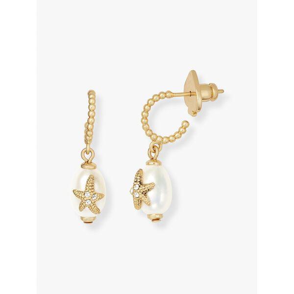 sea star starfish pearl huggies, cream multi, hi-res