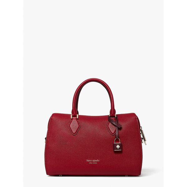 zip code colorblocked medium satchel, red currant multi, hi-res