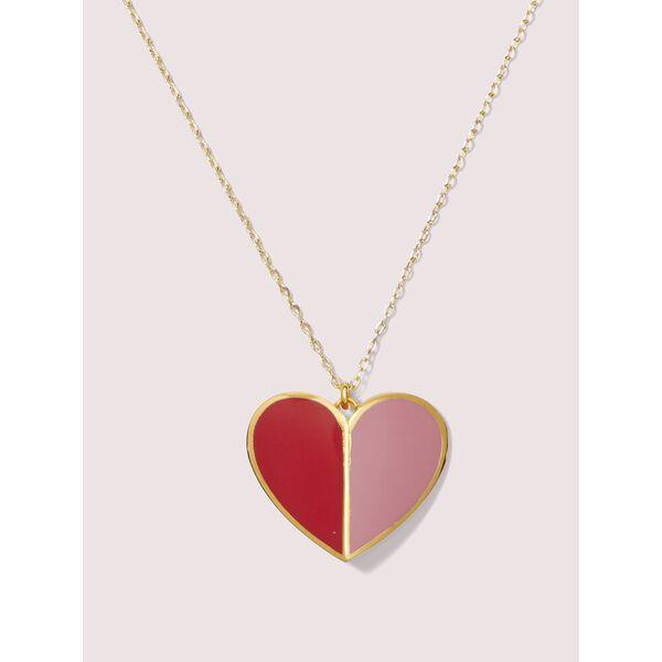 heritage spade enamel heart pendant